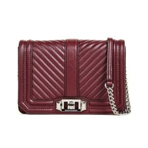 Rebecca Minkoff Chevron Quilted Small Love Bag